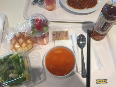 IKEA China! Minestrone Soup and Salad, Pineapple Bread