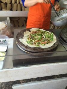 Vegetable Stuffed Pancake aka Chinese Burritos