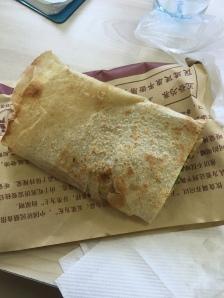Vegetable Stuffed Pancake aka Chinese Burrito