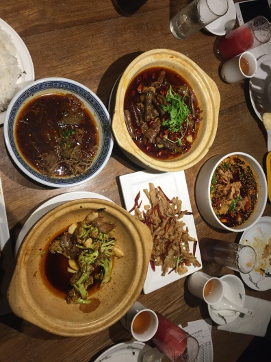 Dishes from a restaurant called Spicy Joint