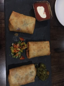 Veggie chimichangas! Found a delicious Mexican restaurant!